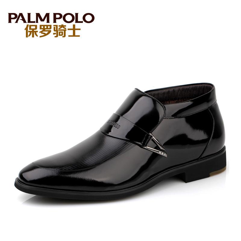 保罗骑士男鞋 秋冬新品男棉皮鞋高帮真皮潮流保暖男士棉鞋皮棉鞋 价格:239.00