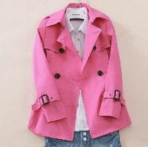 哥弟正品2013秋装新款女装女款修身短款大码欧时力风衣外套音儿 价格:168.00