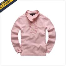 满150减30RTW2013春装新款女童全棉花边立领套头T恤衫RKCT13547 价格:65.00