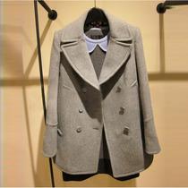 墨概念 2013冬装新款西装领中长款呢大衣女修身毛呢外套欧美风 价格:198.00