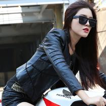 2013春秋装新款女装韩版机车水洗PU皮衣女短款修身小外套大码夹克 价格:228.00