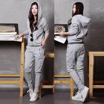 2013新款秋装韩版女装时尚开衫卫衣运动套装大码上下套休闲外套秋 价格:99.00