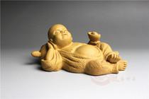 紫砂小和尚茶宠 一休茶玩 雪舟茶趣 招财进宝雕塑 好梦连连工艺品 价格:46.00