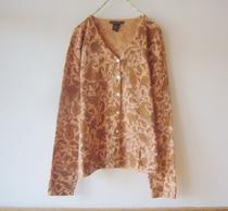 欧单 复古草履虫 印花小羊毛 针织衫 针织开衫 女300G 价格:88.00