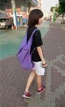 帆布包包2013新款韩版简约手提包女包 双肩潮包 单肩大包 购物袋 价格:32.00