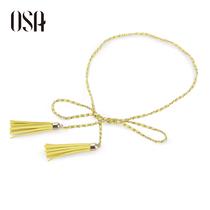 ⑩不变真我OSA2013夏季新款时尚链条配合个性腰头设计腰链P35105 价格:78.00