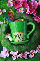 爱丽丝梦游仙境妙妙猫疯帽子约翰尼德普陶瓷马克杯美国正品 价格:35.00