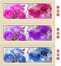 包邮丝线精准印花最新款大幅客厅卧室十字绣玫瑰花样年华紫色浪漫 价格:26.80