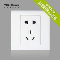 【特价商品】TCL-罗格朗 五孔插座  K5白色五孔 二三插 价格:15.40