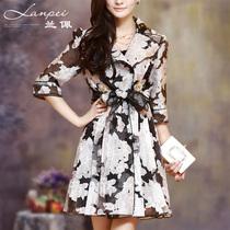 兰佩 2013秋装 新款女装 秋装上新 韩版中长款修身女外套风衣女款 价格:298.00