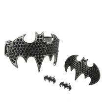 欧美饰品NOIR打标 蝙蝠侠 双弹簧手镯 戒指 耳钉 套装 流行美EK 价格:4.94