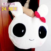 爆款可爱毛绒卡通熊兔子挎包小拎手提包包单肩电脑包2013潮流女包 价格:27.00