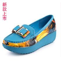 非谜2013新款松糕厚底坡跟单鞋 防水台蝴蝶结印花时尚女鞋摇摇鞋 价格:96.60