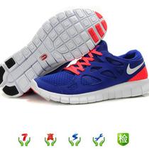 专柜正品包邮Nike耐克free run 2 赤足轻便男运动跑步鞋深蓝桔红 价格:230.00