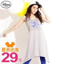 桔熊{KD0184}2013新款显瘦女装背心迪士尼米妮 横条纹不规则夏装 价格:29.00
