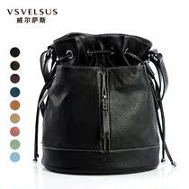 威尔萨斯品牌女包欧美女式背包真皮双肩包 头层牛皮水桶包VA1436 价格:699.00