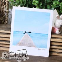 最美的地方马尔代夫 美丽海边景色 节日贺卡卡片批发 价格:0.19