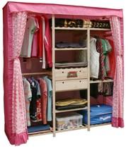 家具好亦佳180简易衣柜/实木松木衣橱/两抽屉/木质/布衣柜环保 价格:275.50
