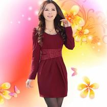 2013秋冬新款秋装上新品韩版修身气质长袖连衣裙时尚休闲精致女装 价格:98.00