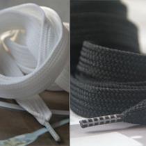 阿迪达斯黑白二色超宽扁带 三叶草鞋带 ADIDAS阿迪达斯板鞋适用 价格:8.00