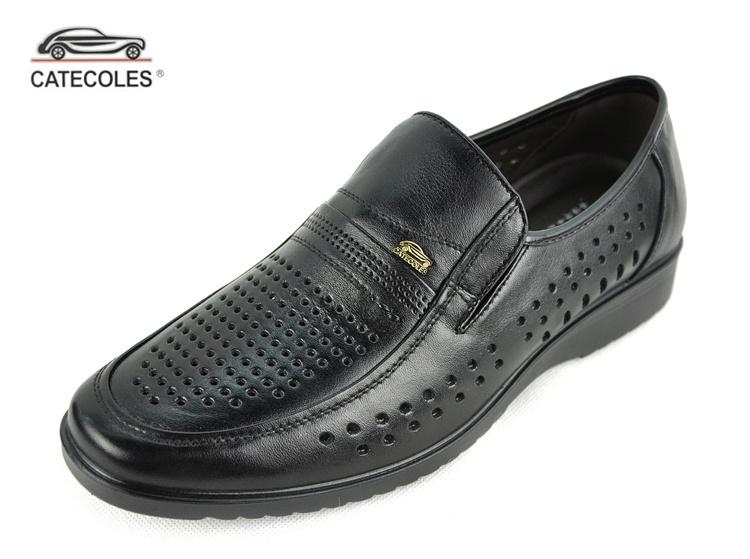 2013香港老爷车商务休闲男鞋皮鞋 新款真皮透气洞洞皮鞋凉鞋28052 价格:169.20