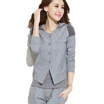 休闲套装女秋装 韩版新款女士三件套卫衣 长袖薄款显瘦时尚运动服 价格:178.00