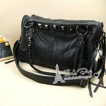 欧美大包包 Zara铆钉流苏仿羊皮机车包 复古水桶包潮单肩斜挎女包 价格:149.00