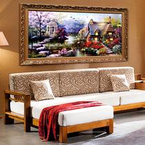 丝线精准印花十字绣最新款 花园小屋 油画风景客厅大幅十字绣包邮 价格:45.00