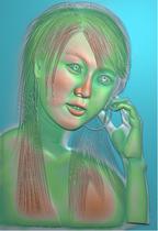 浮雕图 精雕图 灰度图 黄美姬木雕 价格:5.00