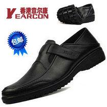新款正品意尔康男鞋英伦商务休闲鞋正装牛皮男士休闲鞋懒人皮鞋男 价格:245.00