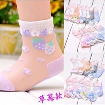 女童小龙人童袜 宝宝袜儿童丝袜 超薄透气蚕丝袜子夏季女短袜 价格:5.50