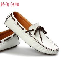 新款2013豆豆鞋男鞋子韩版潮流低帮鞋夏季透气休闲鞋真皮驾车鞋男 价格:108.00