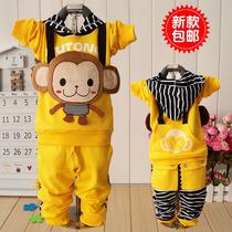 优乐童 包邮2013秋装新款 男童女童装宝宝儿童套装运动纯棉2件套 价格:55.00