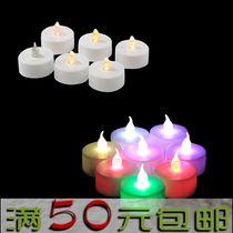 节日LED电子蜡烛灯 情人节浪漫求婚礼物led无烟表演道具蜡烛 价格:1.58