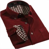 杰克琼斯长袖衬衫七匹狼秋冬装新款灯芯绒加绒衬衣保暖复古男装潮 价格:99.00