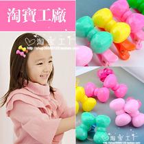 立秋最新款闪亮树脂儿童发夹发绳 环保AB树脂 超亮 价格:0.80
