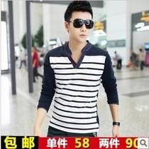 森马新款衣服青年男装长袖T恤2013潮男士中年韩版男款秋装长袖t�� 价格:56.00