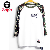 2013 潮牌 AAPE neighborhood 插肩袖迷彩7分袖 tee恤 男士中袖T 价格:60.00
