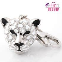 雅芬妮 钥匙扣男士汽车钥匙链腰挂 创意生日礼物送老公 奢华豹头 价格:158.00