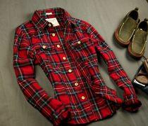 2013春季新款 小鹿学院风 撞色格子 男士长袖 衬衣 衬衫 价格:115.00