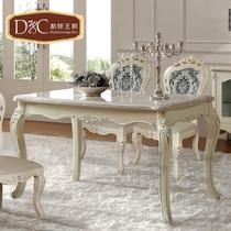 都铎王朝 欧式餐桌 白色餐台长方形实木餐桌 法式大理石餐桌 现货 价格:1580.00