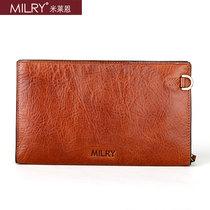 米莱恩MILRY 男士皮包 简约时尚包包牛皮真皮-手拿包手包 价格:398.00