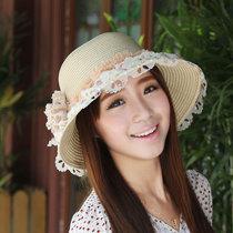 夏季草帽沙滩帽女士遮阳帽子女式户外防晒太阳帽韩版女帽夏天凉帽 价格:27.30
