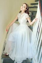 新款华伦天奴韩国蕾丝雪纺长裙海边度假沙滩裙波西米亚连衣裙女装 价格:96.00