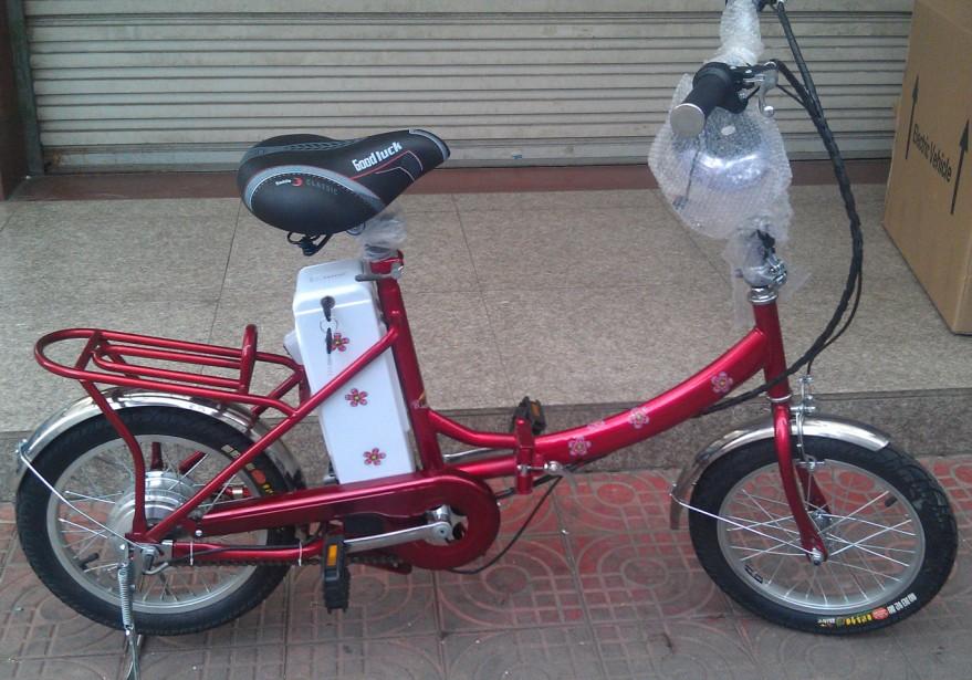 100%好评2012新款16寸奥驰注力可折叠电动自行车轮毂电机电动车 价格:846.00