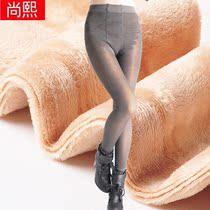 秋冬季加厚女士九分踩脚保暖裤加绒假透肉打底裤显瘦秋装外穿长裤 价格:59.62