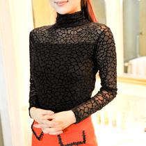 无布例外2221秋季新品网状纹网纱高领气质高雅打底衫女长袖 价格:39.00