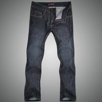 专柜代购 楚沙迪男士牛仔裤 直筒修身长裤 秋冬新款商务奢华长裤 价格:398.00