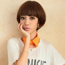 假发短发帅气时尚假发蘑菇头女修脸假发短发蓬松 bobo短卷发 价格:76.80