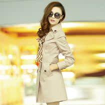 慕齐雅2013秋装新款女装韩版中长款修身春秋女式风衣外套女正品 价格:198.00